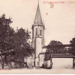 carte postale originale.Eglise vers 1911
