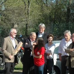 Avec Christine Boudes adjointe au maire de Florentin