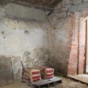 Résultat : sol nettoyé, briques déposées ...