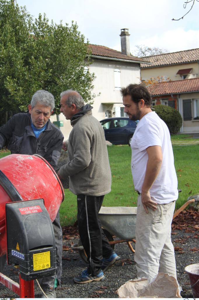 Préparation du mortier à la chaux