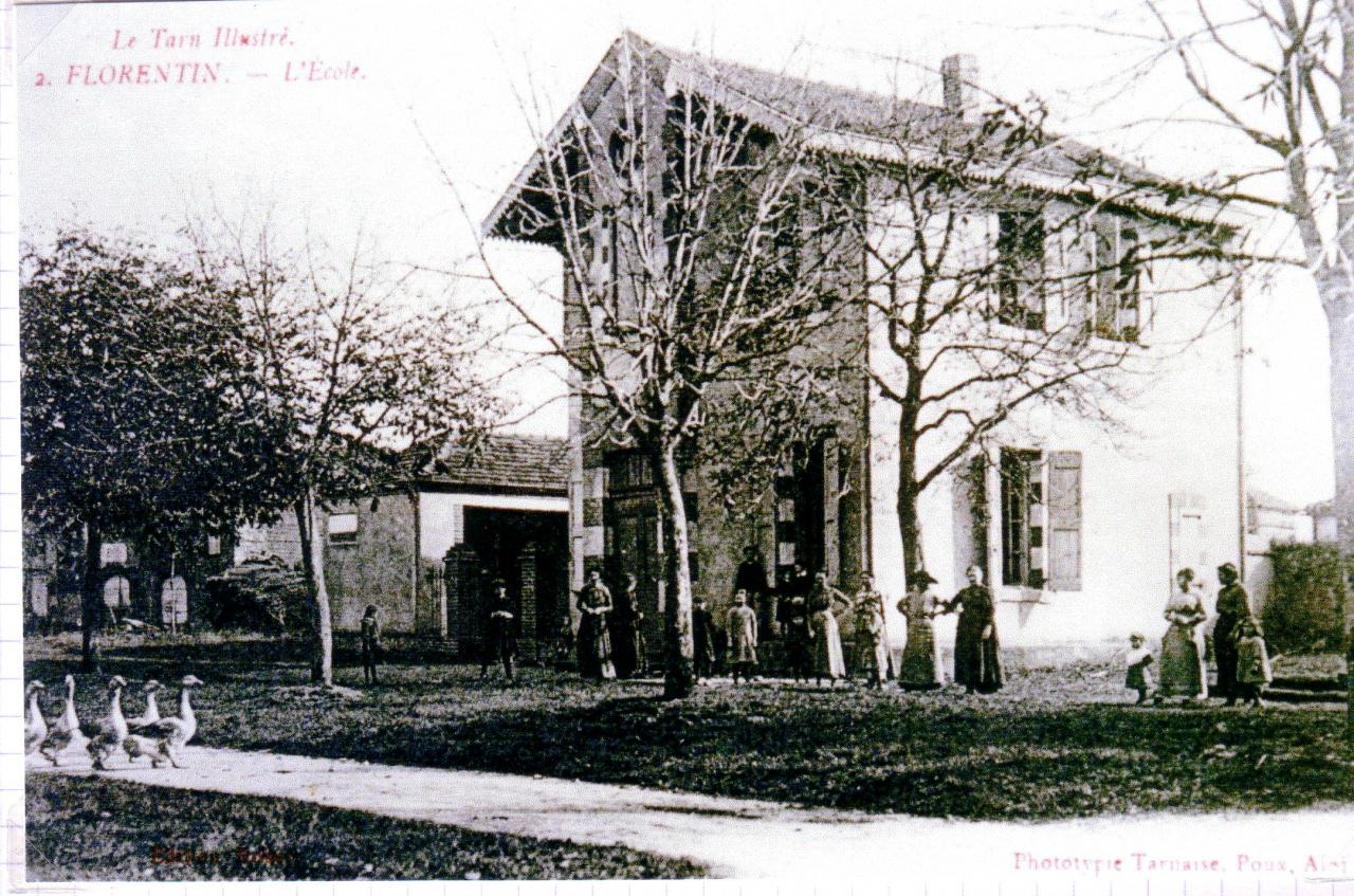 L'école vers 1914.