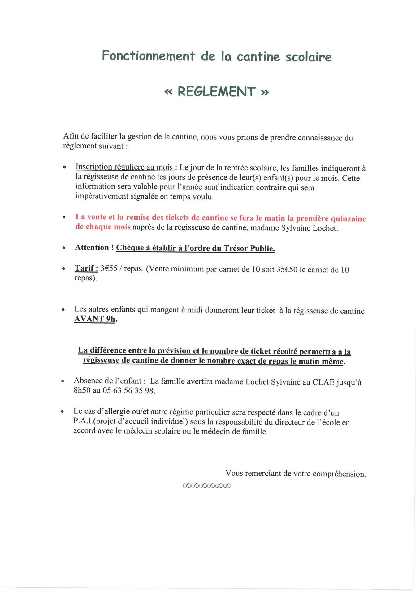 Cantine reglement 2018 2019