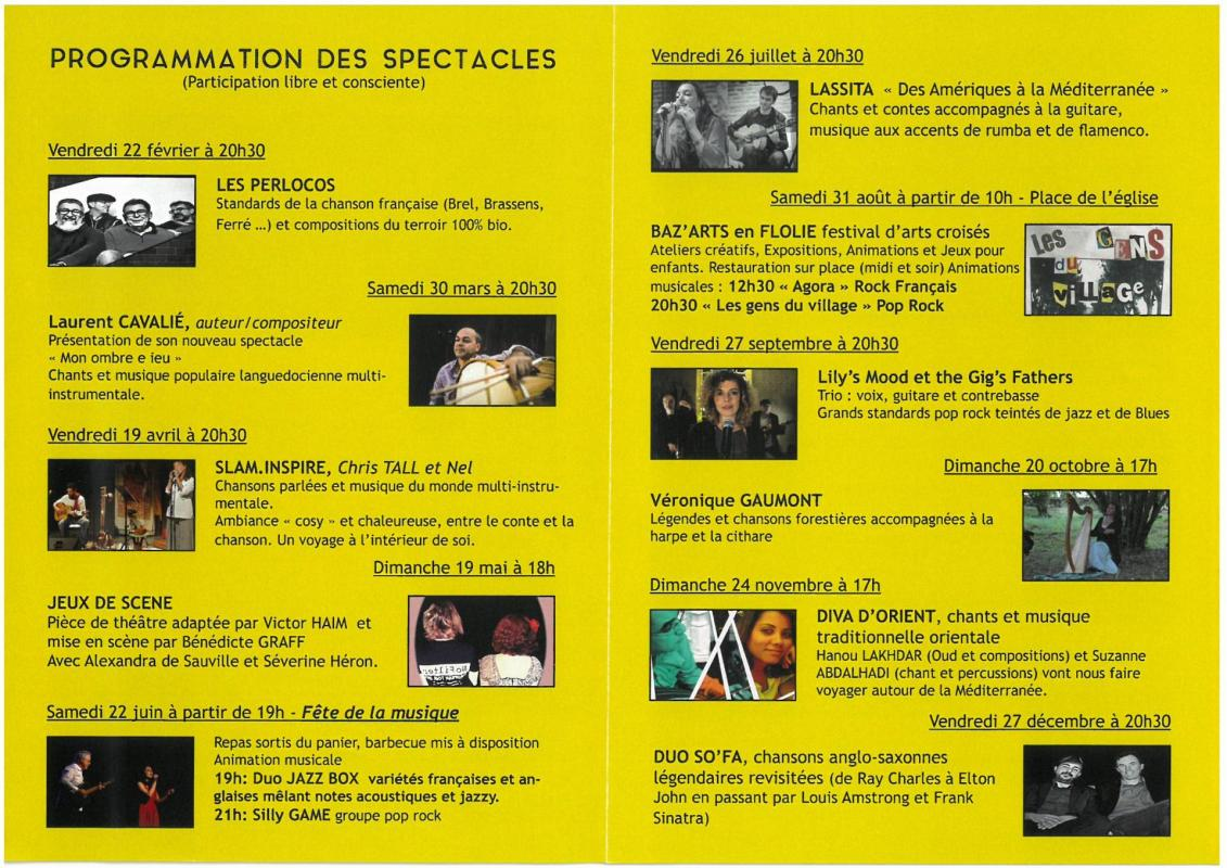 Programmation spectacles 2019 cafe flo